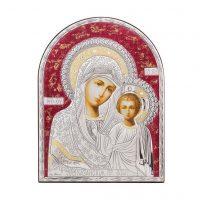 Icoana argintata cu Maria si Pruncul