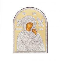 Icoana argint-Fecioara Maria cu Pruncul