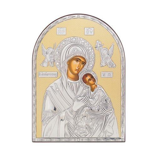 Icoana din argint-Maria cu Pruncul