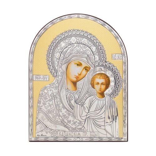 Icoana argint-Maica Domnului cu Pruncul