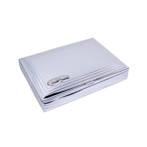 Cutie argintata pentru bijuterii cadou de nunta