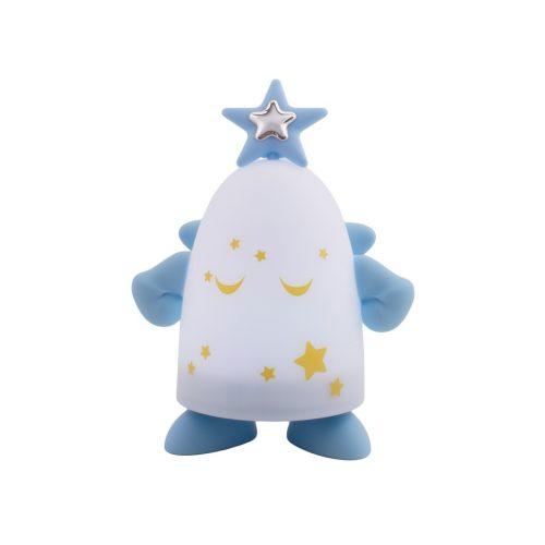 Lampa albastra cu placuta argintata