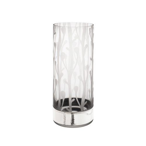 cadou de nunta vaza din cristal cu placa argintata